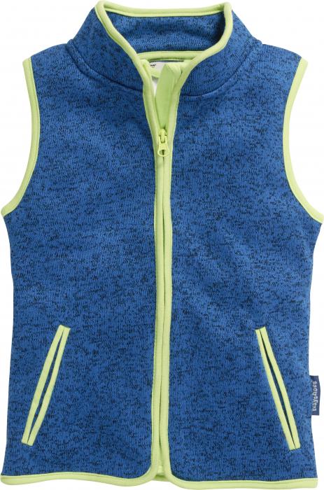Vesta fleece_albastra_model tricotat 0