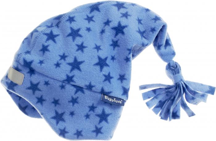 Caciula cu ciucur si protectii urechi, fleece, baieti, Albastru/Stele [0]