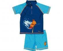 Costum de baie din două piese, protectie UV 50+_baieti_Albastru/Soricel 0