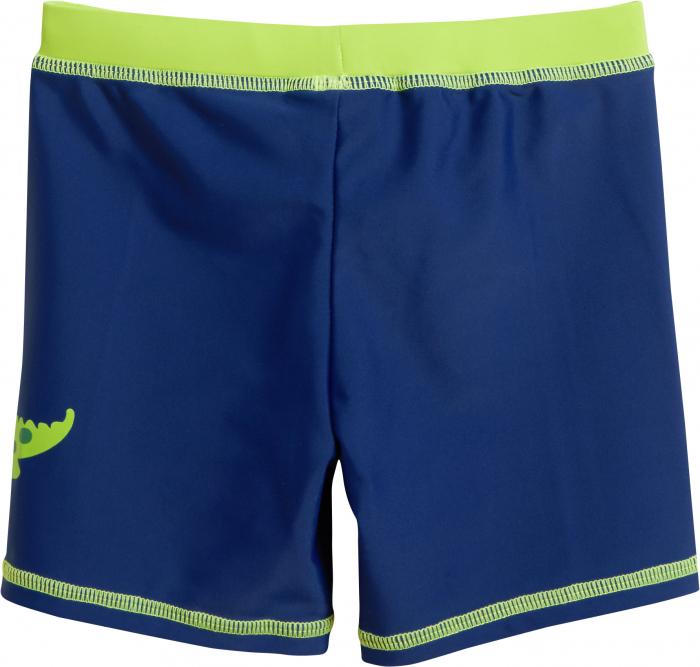 Slip de baie tip boxer, protectie UV50+, baieti, Albastru/Verde 1