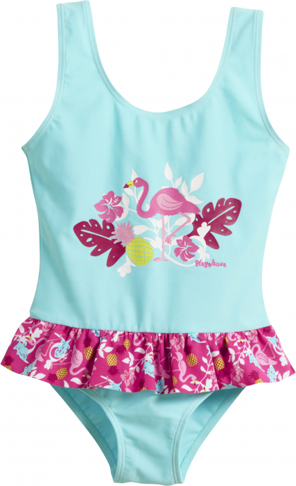 Costum de baie intreg, protectie UV 50+_fete_Turcoise/Flamingo 0