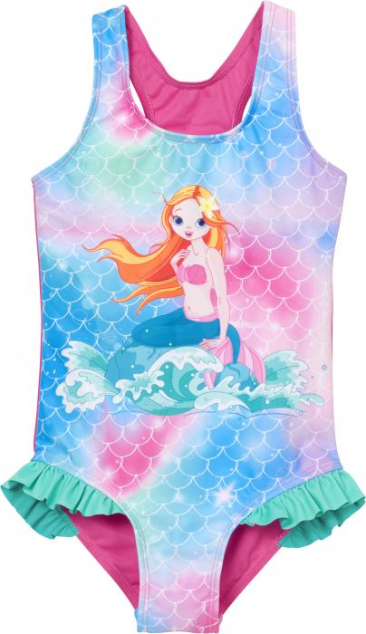 Costum de baie intreg, protectie UV50+_fete_Roz/Sirena 0
