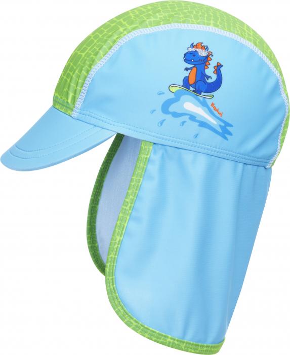 Sapca de soare cu protectie UV 50+, baieti, Albastru/Verde, Dino [0]