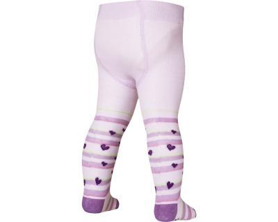 Ciorapi cu model, cu banda confortabila, calitate OEKO-TEX, Mov cu inimioare 0