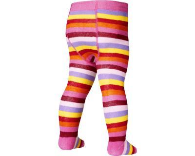 Ciorapi cu model, cu banda confortabila, calitate OEKO-TEX_Dungi multicolore 0