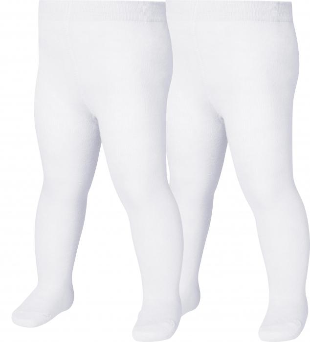 Ciorapi cu chilot, uni, banda confortabila, 2buc/set, Oeko-Tex, Alb [0]