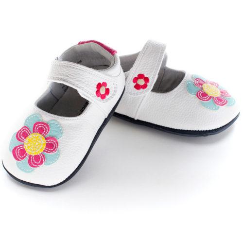 Pantofi casual, piele, fete, Alb/Floare, Isla 0