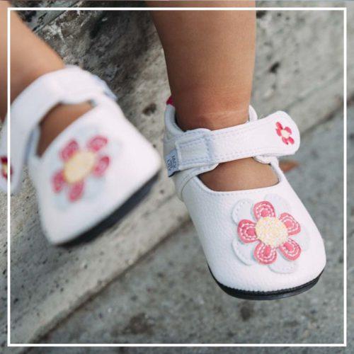 Pantofi casual, piele, fete, Alb/Floare, Isla 2