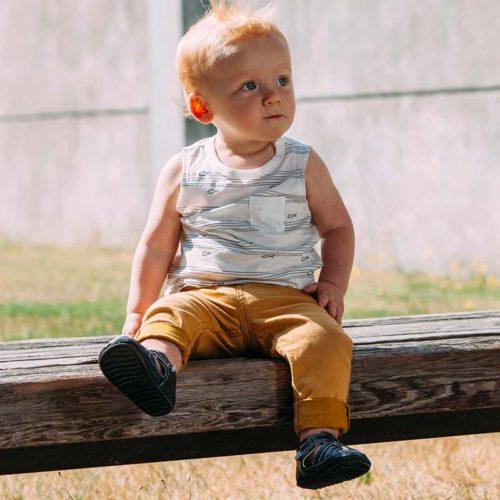 Sandale piele, baieti, Albastru, Hudson [2]