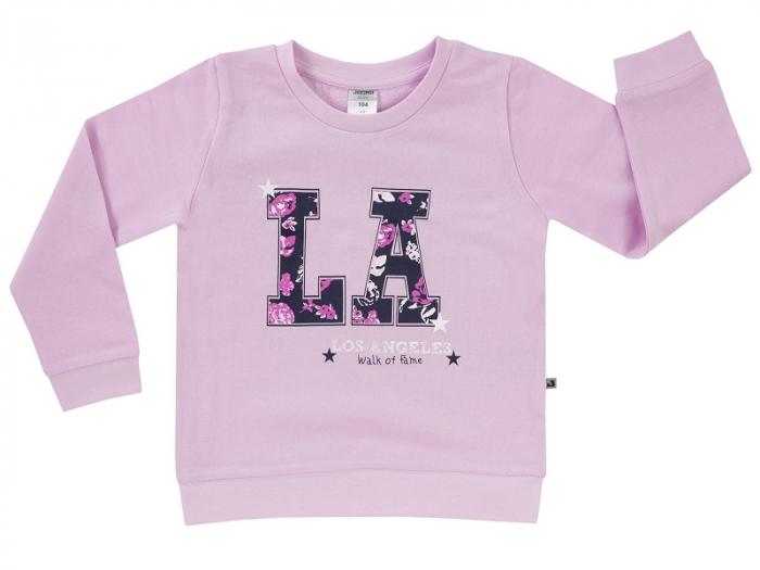 Bluza trening fete,roz LA, bumbac 100% _Basic Line Girls 0