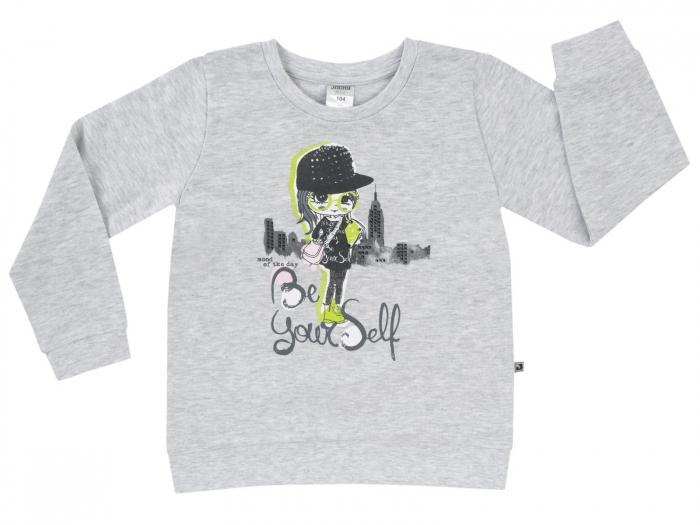 Bluza trening,Gri/Fetita_Basic Line Girls 0
