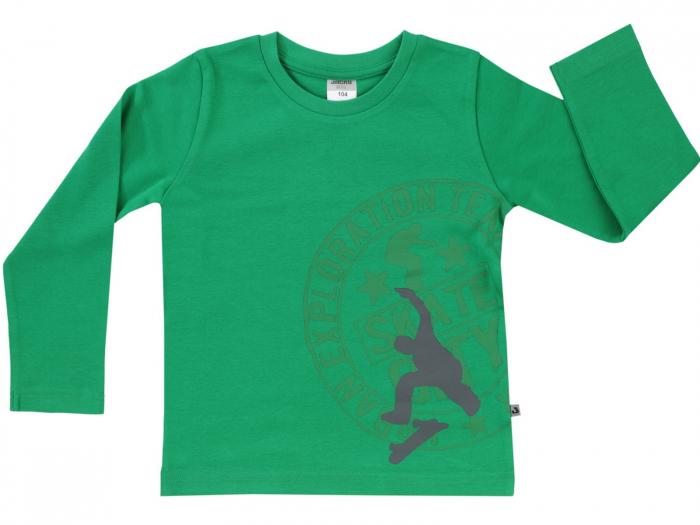 Bluza maneca lunga,verde, bumbac 100%_Basic Line boys 0