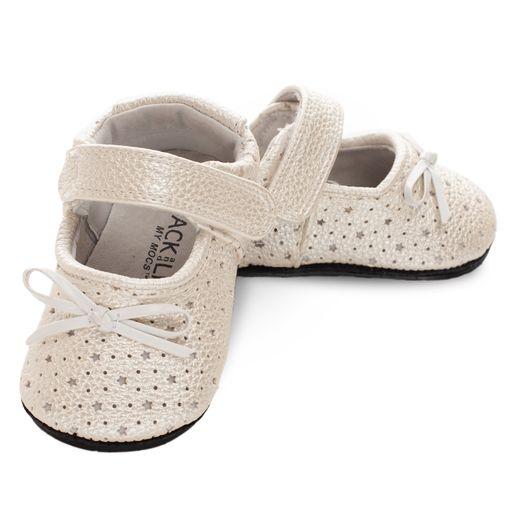 Pantofi eleganti, piele_INA_fete_Argintiu/Stelute 0
