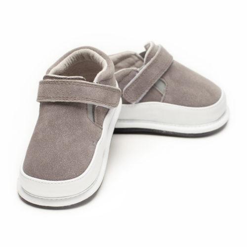Pantofi casual, piele intoarsa_ROWAN_Gri 0