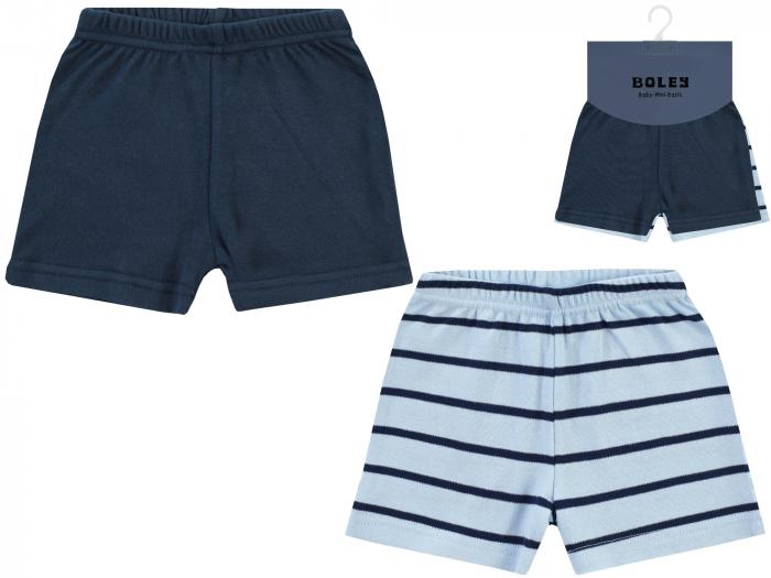 Pantalon scurt, 2buc/set, bumbac 100%, baieti, Albastru/Bleumarin 0