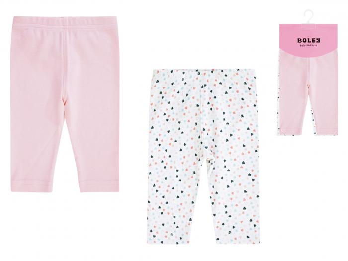 """Pantalon """"leggings"""", 2 buc/set, bumbac 100%_fete_alb/roz_My Princess [0]"""