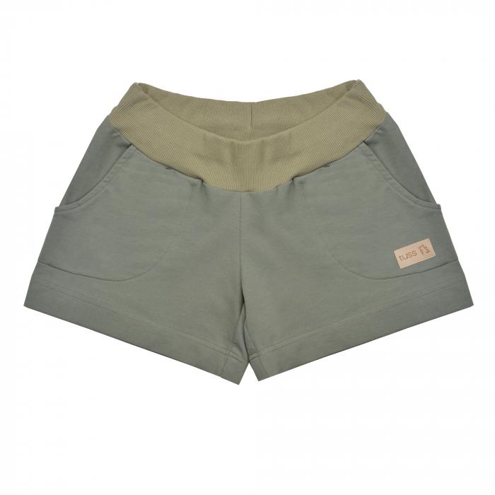 Pantalon scurt cu buzunare, unisex, Verde/Kaki, Seven [0]