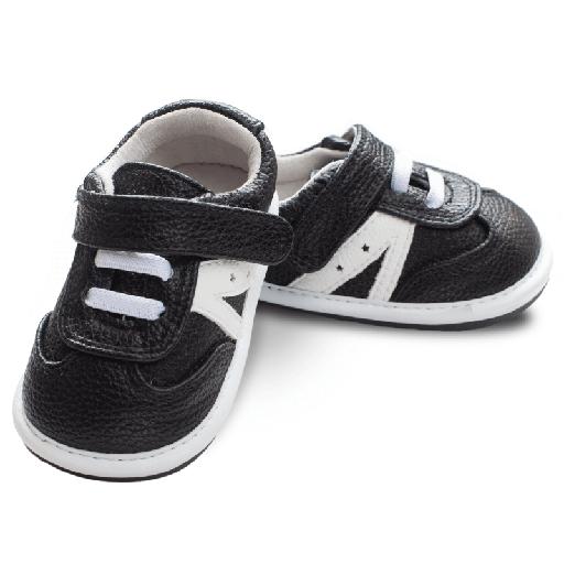 Pantofi sport, piele_ZEKE_baieti_Negru 0