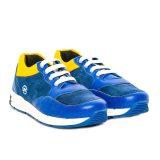Pantofi sport din piele, baieti, Albastru, Horia [0]