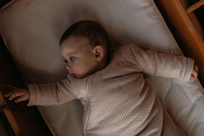 Sac de dormit gros TOG 2.0, maneca lunga, bumbac 100%, fete, Roz prafuit 1