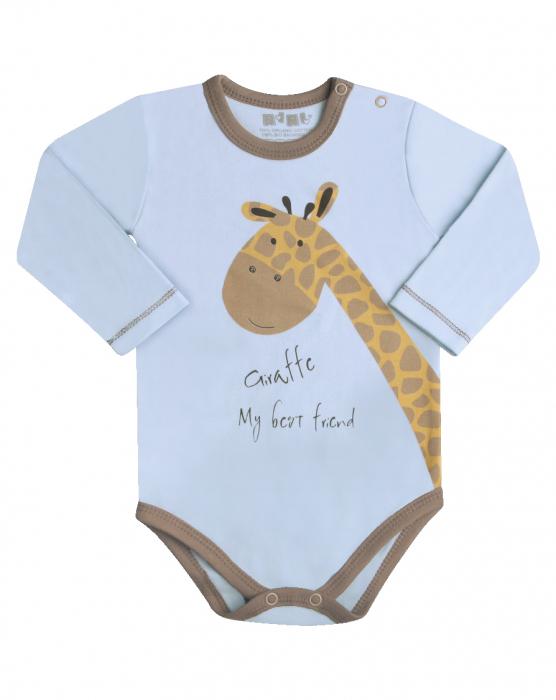 Body cu maneca lunga bumbac organic 100%_Girafa 0