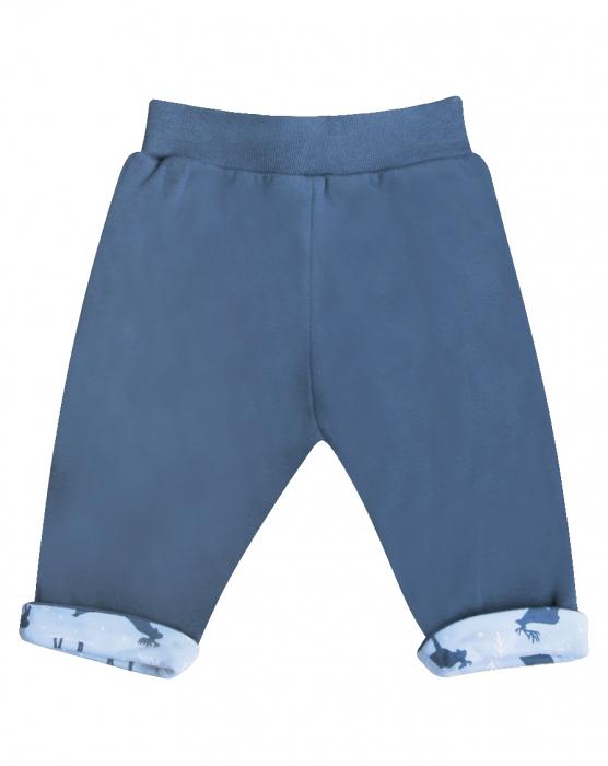 Pantalon trening,gros, bumbac organic 100%, Albastru [0]