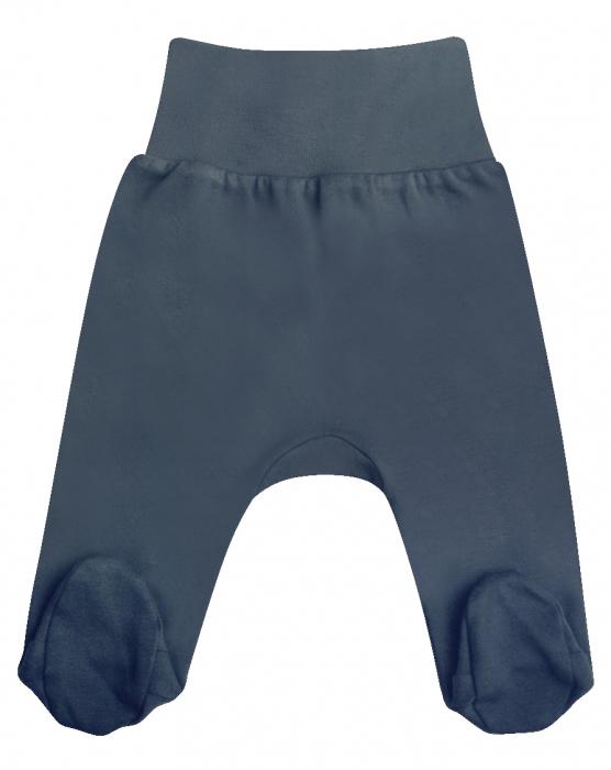 Pantaloni pijama cu talpa 100% bumbac _Gri_September 0