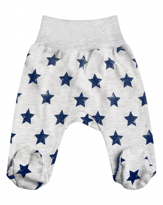 Pantalon cu talpa, Gri cu stelute [0]