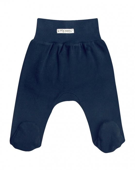 Pantalon cu talpa , bumbac 100%_Albastru_My puppy 0