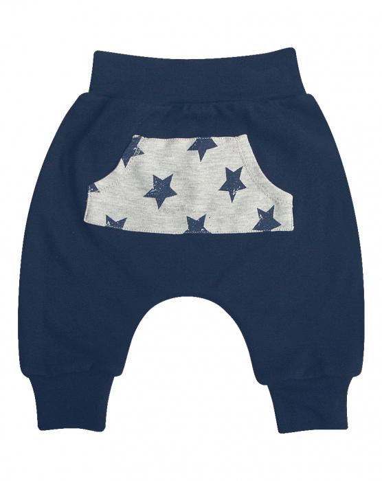 Pantalon trening Albastru/buzunar cu stelute , bumbac 100% 0