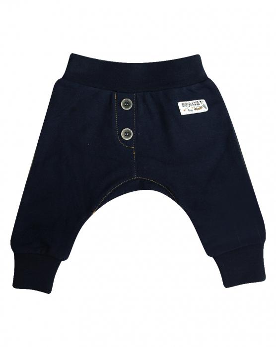 Pantalon trening cu nasturi in fata_Albastru_Planets 0