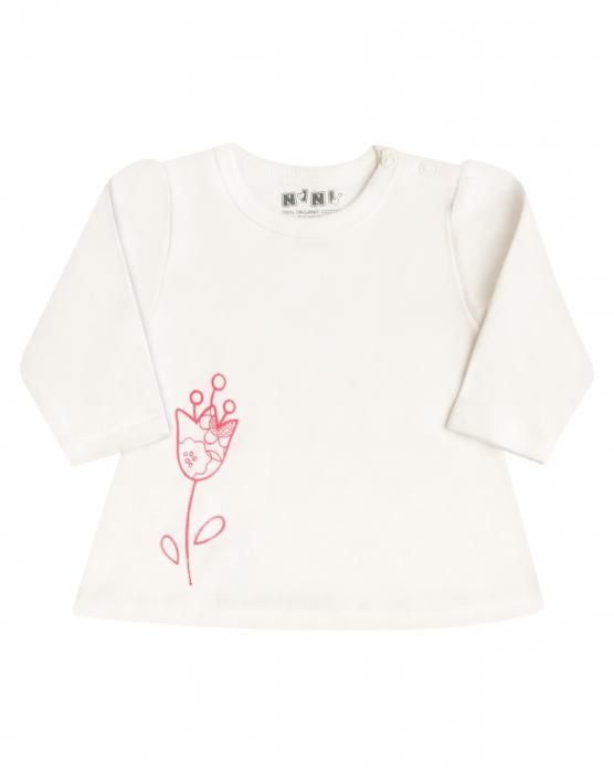 Bluza cu maneca lunga bumbac organic 100%_Flower 0