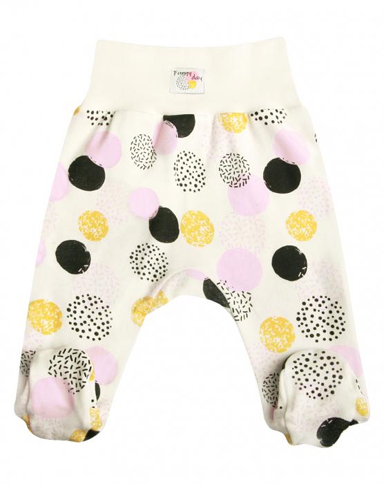Pantalon cu talpa, Alb/Buline colorate, Funny day [0]