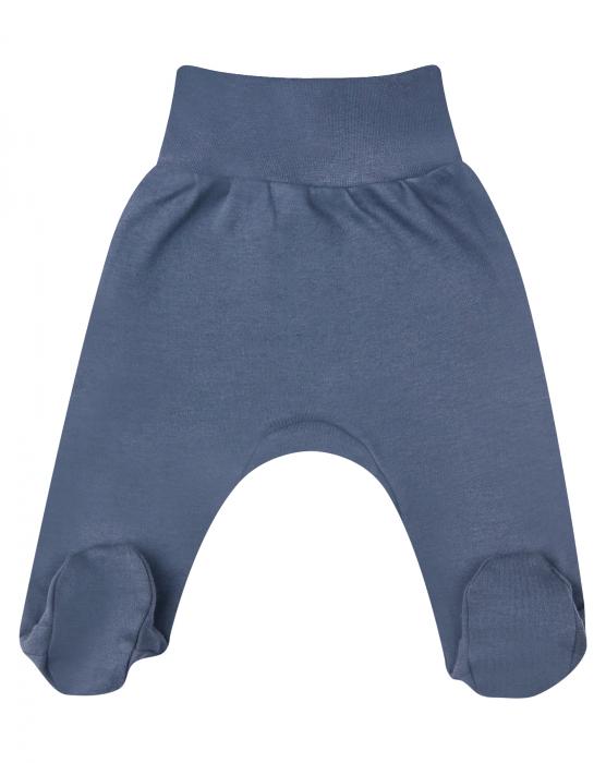 Pantalon tip pijama cu talpa, bumbac 100%, Gri inchis, baieti 0