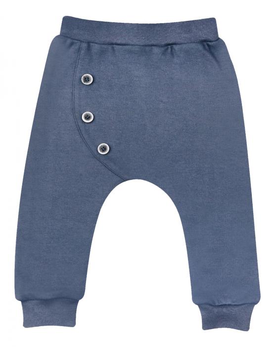 Pantalon lung subtire, bumbac 100%, Gri inchis/Fotbal, baieti 0