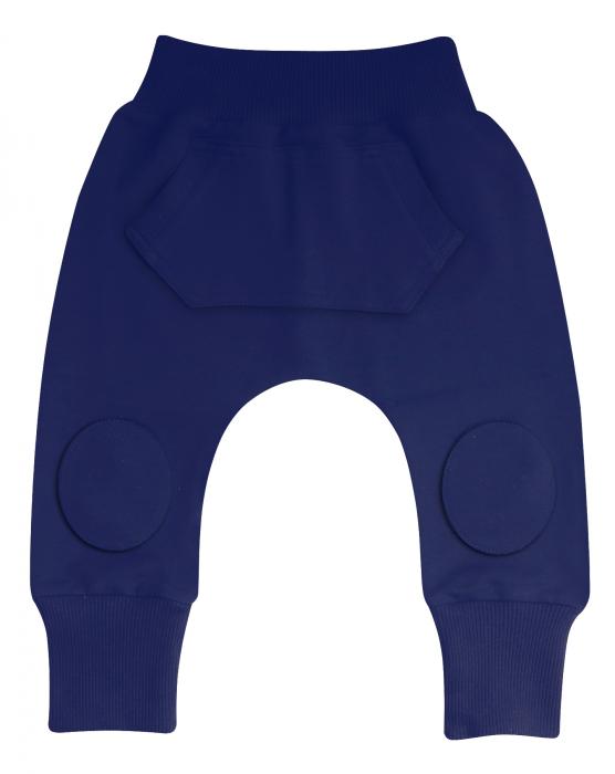 Pantalon trening cu buzunare, Albastru [0]