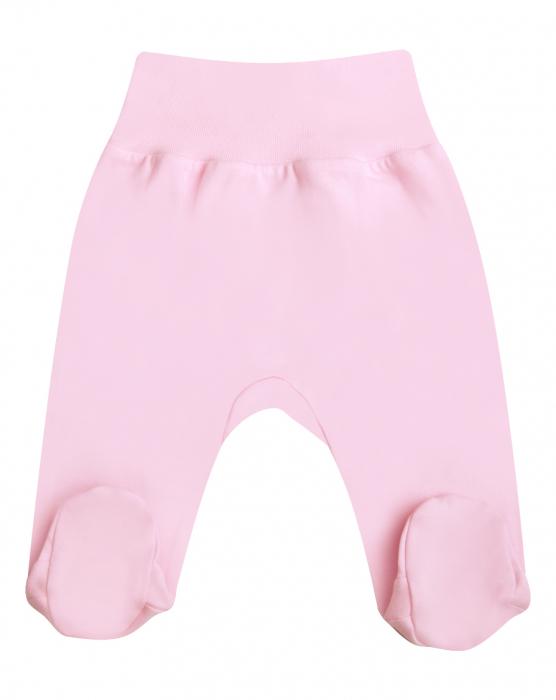 Pantalon tip pijama cu talpa, bumbac 100%_Roz 0