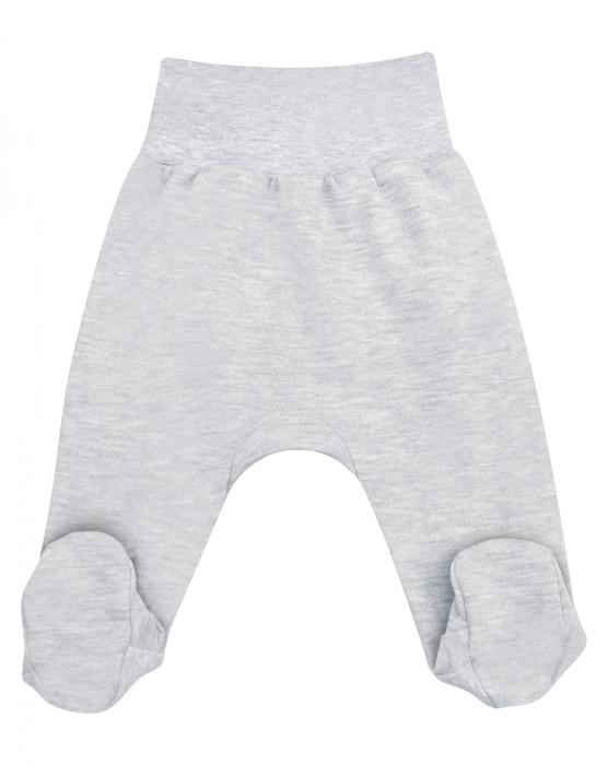 Pantalon tip pijama cu talpa_Gri 0