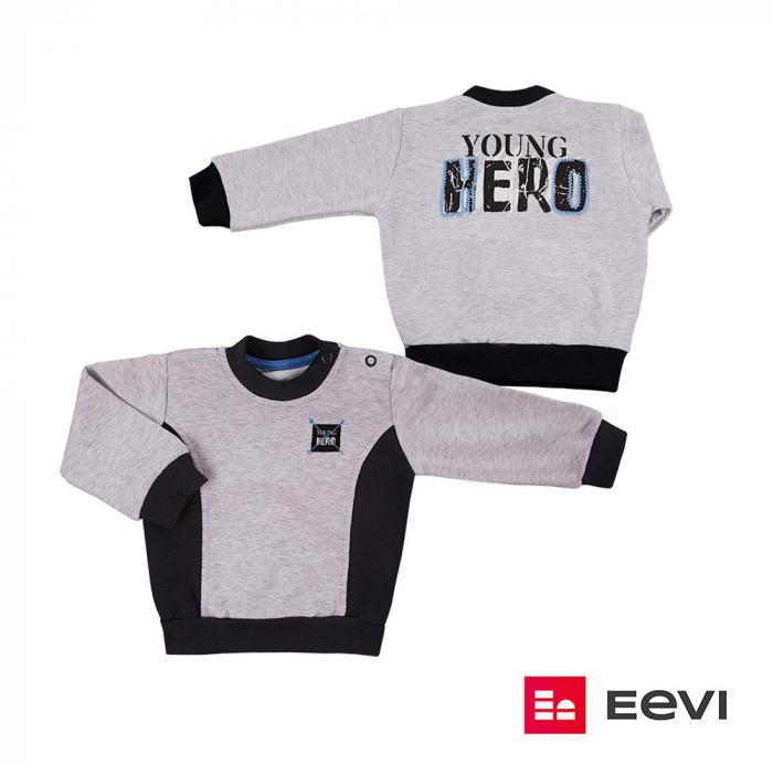 Bluza trening, Gri/Negru, Young Hero 0