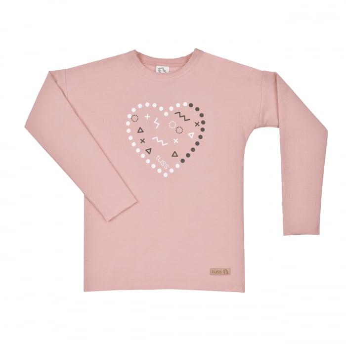 Bluza cu maneca lunga, fete_Roz/Heart 0