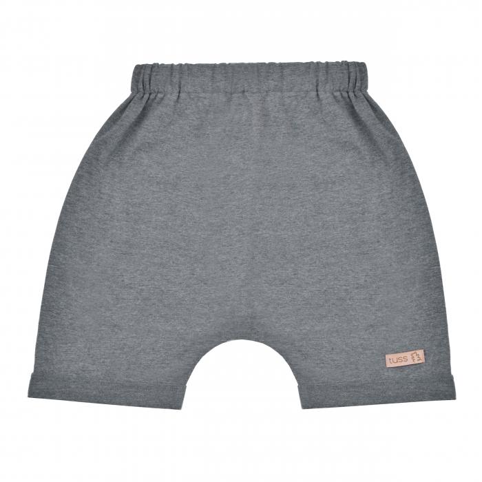 Pantalon scurt cu buzunar spate_baieti_Gri 0