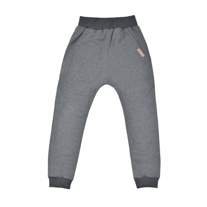 Pantalon lung cu buzunare, unisex, Gri 0