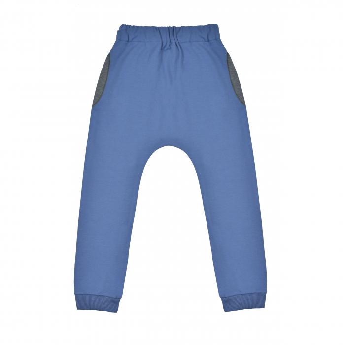 Pantalon lung cu buzunare, baieti, Albastru/Gri 0