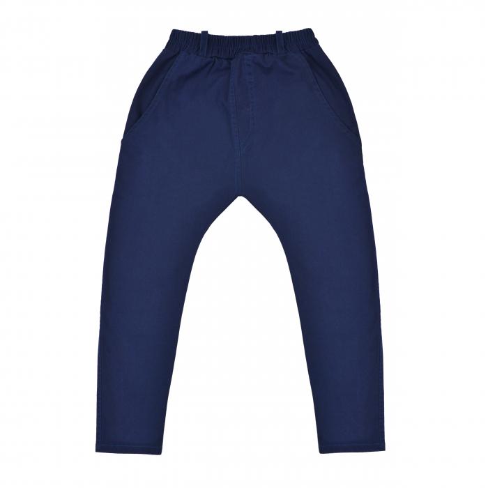 Pantalon lung, tip blugi cu buzunare, baieti, Albastru inchis 0