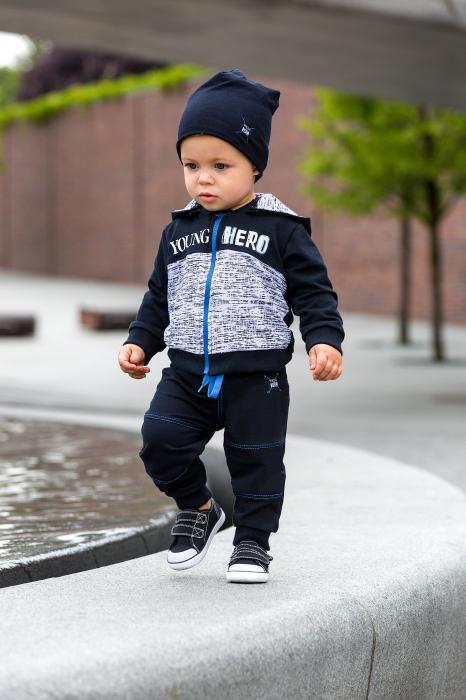 Pantalon trening_Negru_Young Hero 1