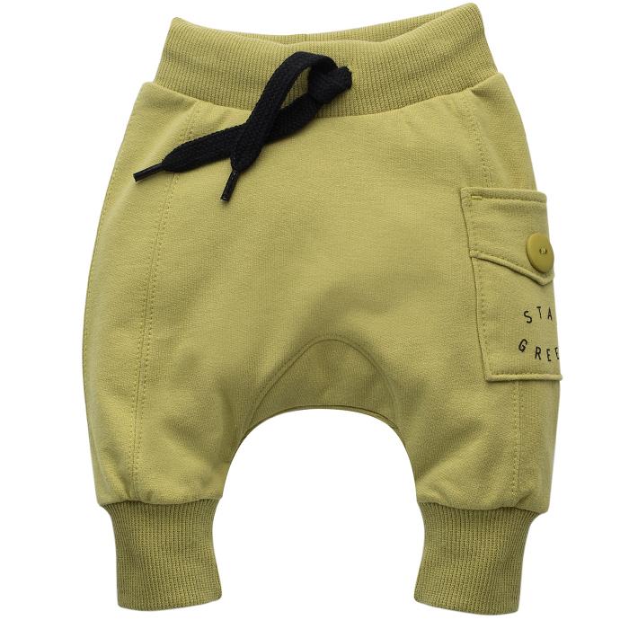 Pantalon lung trening, bumbac 100%, baieti, Verde kaki, Stay Green [0]