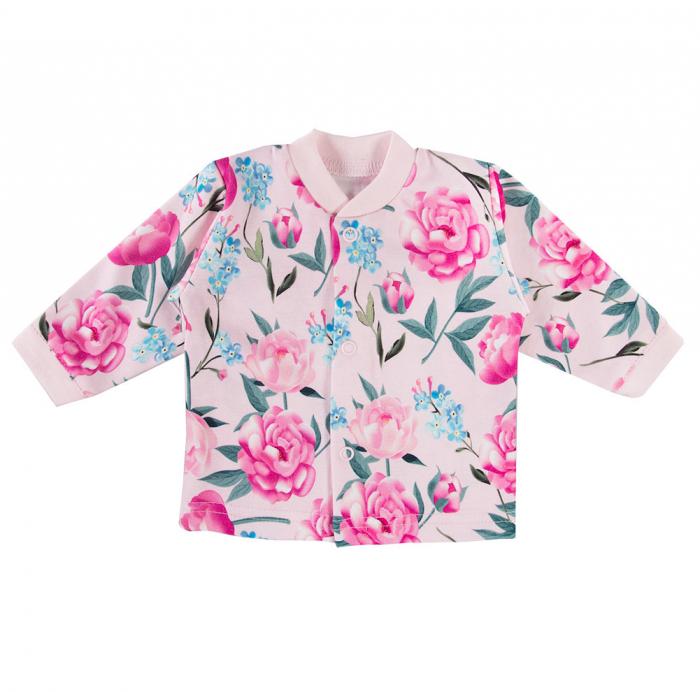 Bluza de corp, bebe, bumbac 100%_fete_Roz/Flori_PEONY [0]