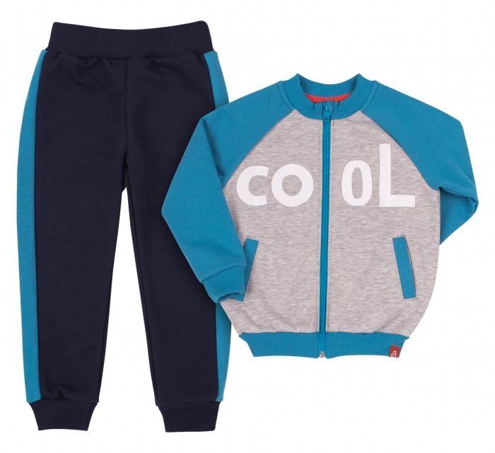 Trening intreg, baieti, Gri/Albastru, Cool 0