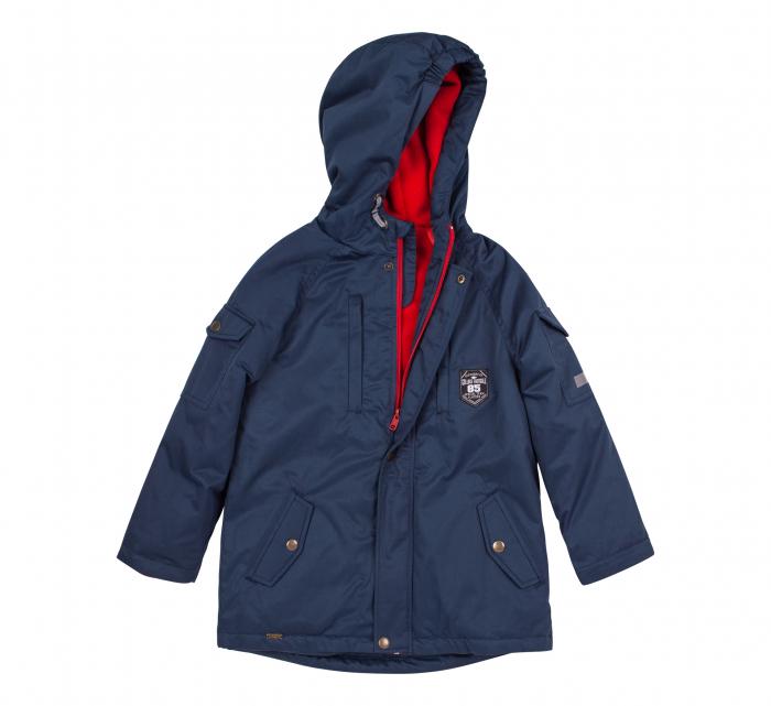 Jacheta groasa cu gluga, elemente reflectorizante, baieti, Albastru 1