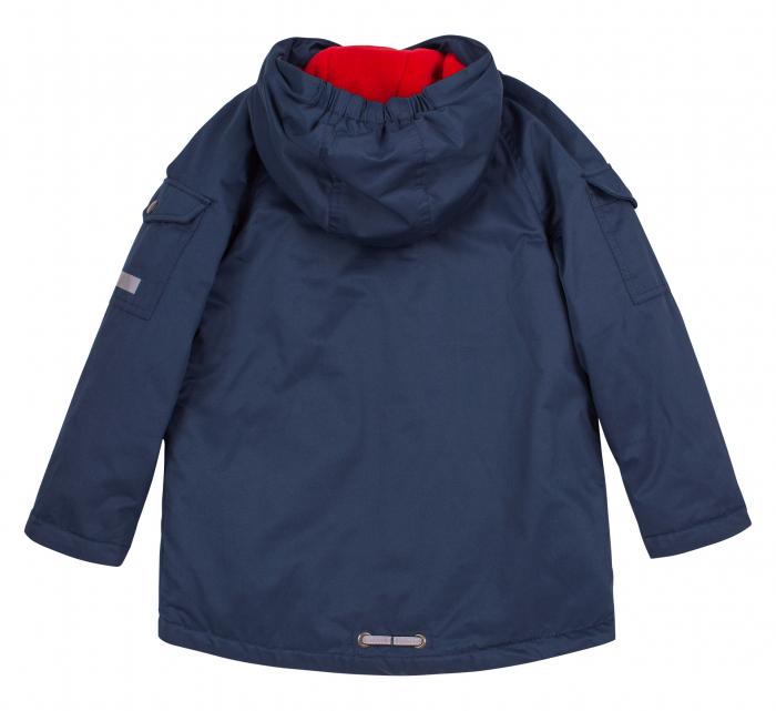 Jacheta groasa cu gluga, elemente reflectorizante, baieti, Albastru 3